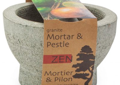 ZEN CUIZINE Mortar & Pestle Packaging