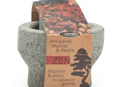 Zen CUIZINE Mini Mortar & Pestle Packaging